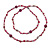 Long Plum Shell Nugget, Ceramic and Glass Crystal Bead Necklace - 112cm L - view 5