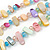 3 Row Pastel Multicoloured Shell And Glass Bead Necklace - 45cm L - view 4