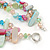 3 Row Pastel Multicoloured Shell And Glass Bead Necklace - 45cm L - view 5