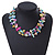 3 Row Pastel Multicoloured Shell And Glass Bead Necklace - 45cm L - view 2