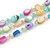 3 Row Layered Pastel Multicoloured Shell And Glass Bead Necklace - 58cm L - view 3