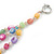 3 Row Layered Pastel Multicoloured Shell And Glass Bead Necklace - 58cm L - view 6