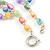 3 Row Layered Pastel Multicoloured Shell And Glass Bead Necklace - 58cm L - view 4