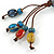 Handmade Blue, Red Ceramic Bead Tassel Brown Silk Cord Necklace - 46cm to 66cm Long (Adjustable) - view 6
