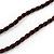 Long Orange/ Teal Ceramic Bead Tassel Necklace with Brown Cotton Cord - 80cm L/ 10cm Tassel - view 6