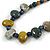 Multi Ceramic Bead Brown Cord Necklace (Dusty Yellow, Grey, Blue) - 60cm to 80cm (Adjustable) - view 4