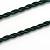 Handmade Green, Blue, Black Ceramic Bead Tassel Green Silk Cord Necklace - 80cm Long/ 9cm Tassel - view 6