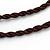 Handmade Red, Brown, Black Ceramic Bead Tassel Brown Silk Cord Necklace - 80cm Long/ 9cm Tassel - view 7