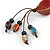 Long Multicoloured Ceramic Bead Tassel Cord Necklace - 58cm to 80cm Long (Adjustable) - view 5