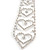 Star Quality Clear Austrian Crystal Tie Necklace In Silver Tone Metal - 32cm L/ 15cm Ext/ 21cm Tie - view 4