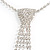 Star Quality Clear Austrian Crystal Tie Necklace In Silver Tone Metal - 32cm L/ 15cm Ext/ 21cm Tie - view 8