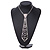 Star Quality Clear Austrian Crystal Tie Necklace In Silver Tone Metal - 32cm L/ 15cm Ext/ 21cm Tie - view 2