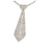 Star Quality Clear Austrian Crystal with Heart Motif Tie Necklace In Silver Tone Metal - 32cm L/ 17cm Ext /16cm Tie