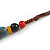 Blue/ Black/ Red Ceramic, Brown Wood Bead with Silk Cords Necklace - 56cm to 80cm Long/ Adjustable - view 8