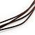 Burnt Orange Ceramic Bead Brown Silk Cords Necklace - Adjustable - 60cm to 70cm Long - view 6