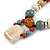 Pastel Multicoloured Ceramic Bead with Black Silk Cords Necklace - 50cm to 80cm Long/ Adjustable - view 5