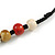 Pastel Multicoloured Ceramic Bead with Black Silk Cords Necklace - 50cm to 80cm Long/ Adjustable - view 6