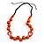 Signature Wood, Ceramic, Acrylic Bead Black Cord Necklace (Orange) - 72cm L (Adjustable) - view 7