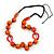 Signature Wood, Ceramic, Acrylic Bead Black Cord Necklace (Orange) - 72cm L (Adjustable) - view 3
