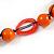 Signature Wood, Ceramic, Acrylic Bead Black Cord Necklace (Orange) - 72cm L (Adjustable) - view 4