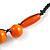 Signature Wood, Ceramic, Acrylic Bead Black Cord Necklace (Orange) - 72cm L (Adjustable) - view 6