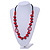 Signature Wood, Ceramic, Acrylic Bead Black Cord Necklace (Raspberry Red) - 72cm L (Adjustable) - view 2