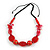 Romantic Butterfly Beaded Black Cord Necklace in Red - 56cm L - Adjustable - view 3