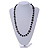 Black Pearl Style, Glass and Floral Ceramic Beaded Necklace - 72cm L/ 4cm Ext - view 2