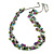 Statement Glass, Nugget Silver Tone Chain Necklace in (Multicoloured) - 60cm L/ 8cm Ext