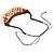 Statement Sea Shell, Orange/ Brown Wood Bead Black Cotton Cord Necklace - 42cm L (Min)/ Adjustable - view 7