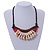 Statement Sea Shell, Wood Bead Cotton Cord Necklace - 42cm L (Min)/ Adjustable - view 2