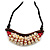 Statement Sea Shell, Wood Bead Cotton Cord Necklace - 42cm L (Min)/ Adjustable - view 3