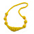 Chunky Yellow Glass and Shell Bead Necklace - 70cm L - view 7