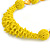 Chunky Yellow Glass and Shell Bead Necklace - 70cm L - view 4