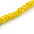 Chunky Yellow Glass and Shell Bead Necklace - 70cm L - view 6