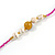 Fuchsia/ Purple Glass Bead, Pom Pom, Tassel Long Necklace - 88cm L/ 10cm Tassel - view 6