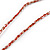 Red/ Brown/ Gold/ White Glass Bead Geometric Pattern Pendant with Long Cotton Cord - 80cm Long - view 7