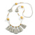 Boho Style Glass Beaded Pom Pom, Tassel Long Necklace In Light Grey - 90cm L - view 3