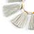 Boho Style Glass Beaded Pom Pom, Tassel Long Necklace In Light Grey - 90cm L - view 6
