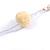 Boho Style Glass Beaded Pom Pom, Tassel Long Necklace In Light Grey - 90cm L - view 7