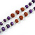 Long Wood, Glass, Seed Beaded Necklace with Silk Tassel (Nude, Purple, Lavender, Brown) - 80cm L/ 11cm Tasse - view 7