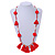 Boho Style Glass Beaded Pom Pom, Tassel Long Necklace In Red - 90cm L - view 2