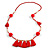 Boho Style Glass Beaded Pom Pom, Tassel Long Necklace In Red - 90cm L - view 7