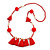 Boho Style Glass Beaded Pom Pom, Tassel Long Necklace In Red - 90cm L - view 1