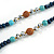 Dark Blue Wood, Glass, Sea Shell, Tree Seed Bead with Pom Pom Tassel Long Necklace - 80cm L/ 16cm Tassel - view 7