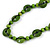 Long Lime Green Wood Button Bead Necklace - 110cm Long - view 4