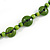 Long Lime Green Wood Button Bead Necklace - 110cm Long - view 5