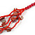 Long Multistrand Red Shell/ Glass Bead Necklace - 76cm L - view 6