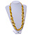 Long Multistrand Yellow Shell/ Glass Bead Necklace - 76cm L - view 2