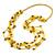 Long Multistrand Yellow Shell/ Glass Bead Necklace - 76cm L - view 3